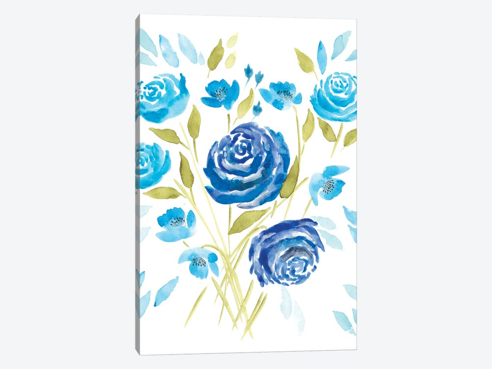 Cerulean Blooms II by Regina Moore 1-piece Canvas Art Print