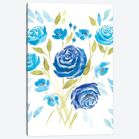 Cerulean Blooms II Canvas Print #REG65} by Regina Moore Canvas Print