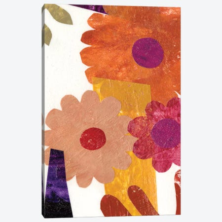 Fiesta Floral I Canvas Print #REG68} by Regina Moore Canvas Artwork