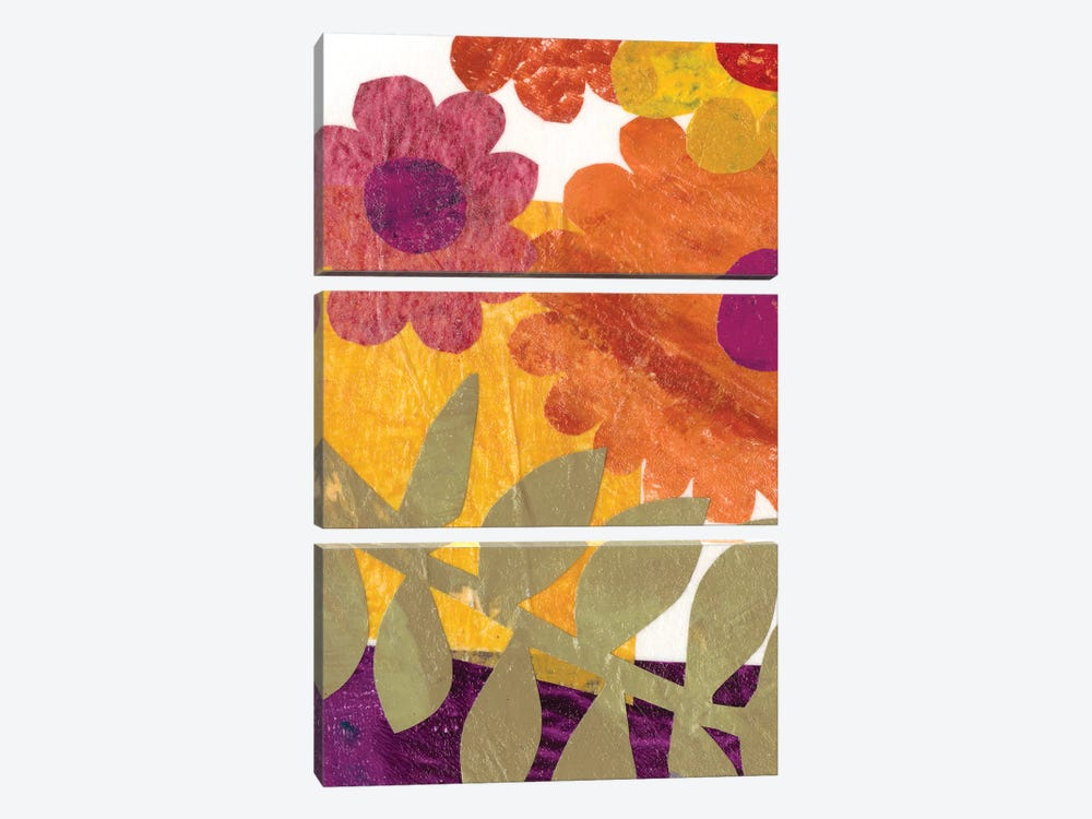 Fiesta Floral IV by Regina Moore 3-piece Canvas Art