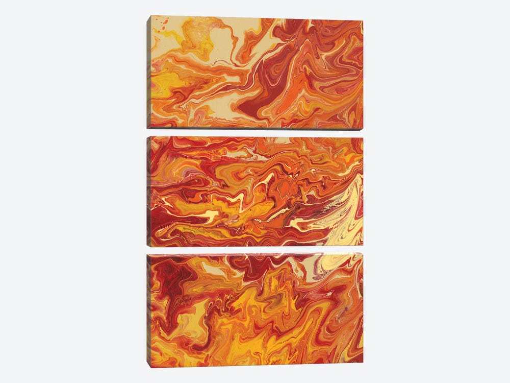 Nomadic Blaze IV by Regina Moore 3-piece Canvas Art