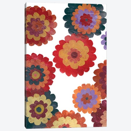 Scattered Blooms I Canvas Print #REG86} by Regina Moore Art Print