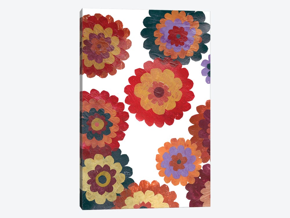 Scattered Blooms I by Regina Moore 1-piece Canvas Artwork