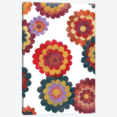 Scattered Blooms II Canvas Print #REG87} by Regina Moore Canvas Print