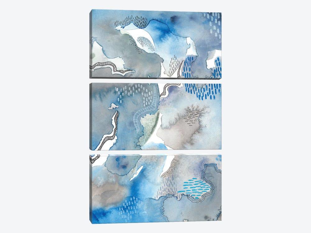 Subtle Blues II by Regina Moore 3-piece Canvas Art Print