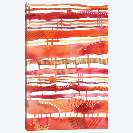 Tangerine Stripes I 3-Piece Canvas #REG93} by Regina Moore Art Print
