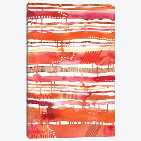 Tangerine Stripes II 3-Piece Canvas #REG94} by Regina Moore Canvas Wall Art