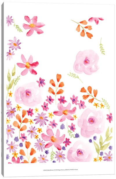 Blush Blooms I Canvas Art Print
