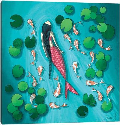 Mermaid And Koi Canvas Art Print