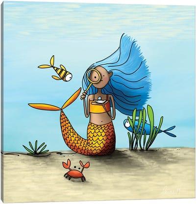 Curious Mermaid Canvas Art Print