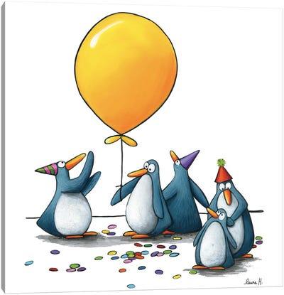 Happy Penguins Canvas Art Print