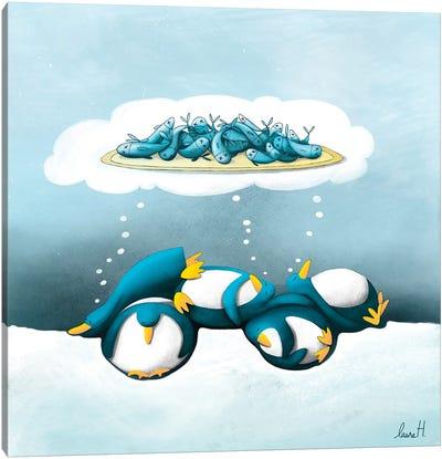 Dream Of Penguins Canvas Art Print