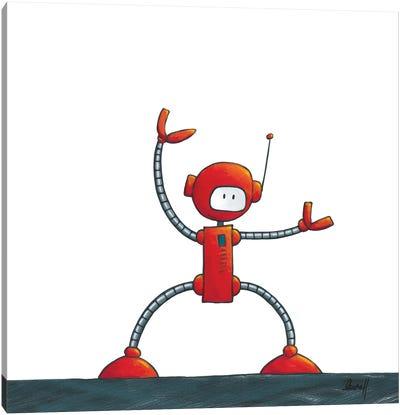 Kung-Fu Robot Canvas Art Print