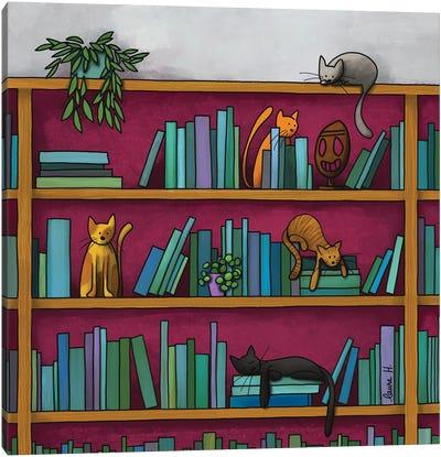 Library Canvas Art Print