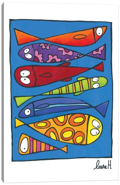 Like Sardines Canvas Art Print
