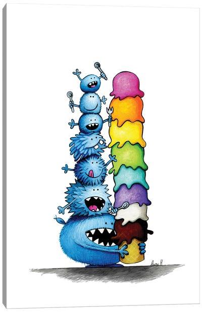Monstrous Ice Cream Canvas Art Print