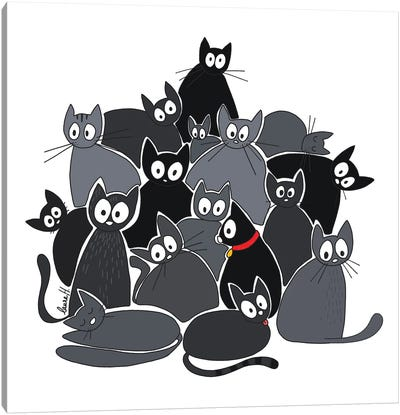 Pile Of Cats Canvas Art Print