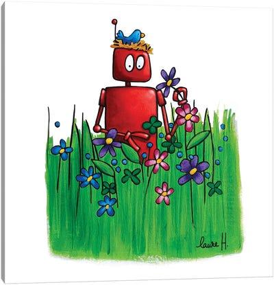 Spring Robot Canvas Art Print