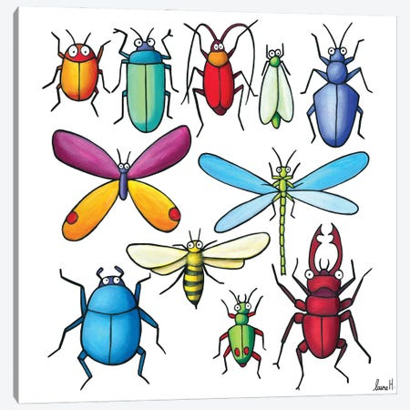 Insects Canvas Print #REH41} by LaureH Canvas Art Print