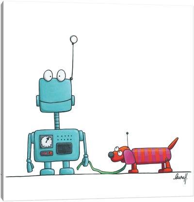 Robot And Dog II Canvas Art Print