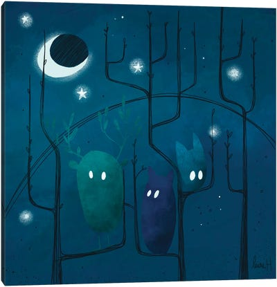 Nocturnal Creatures Canvas Art Print