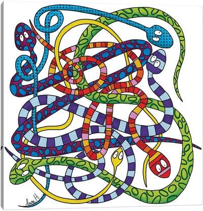 Snakes Knot Canvas Art Print