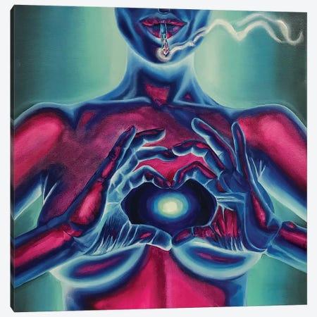 Neon Body №2 Canvas Print #REM15} by Marta Merems Canvas Art