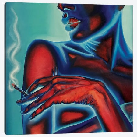 Neon Body №3 Canvas Print #REM16} by Marta Merems Canvas Wall Art