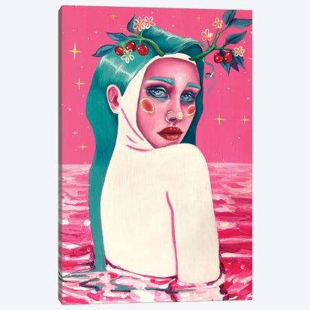 Sweet Mermaid Canvas Print #REM21} by Marta Merems Canvas Artwork