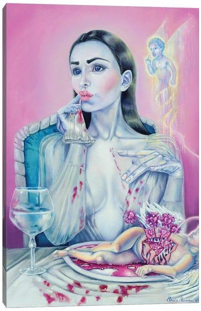 Ego & Cupid Canvas Art Print