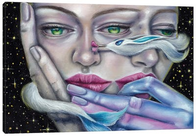 Don't Worry Dragon Kiss Canvas Art Print