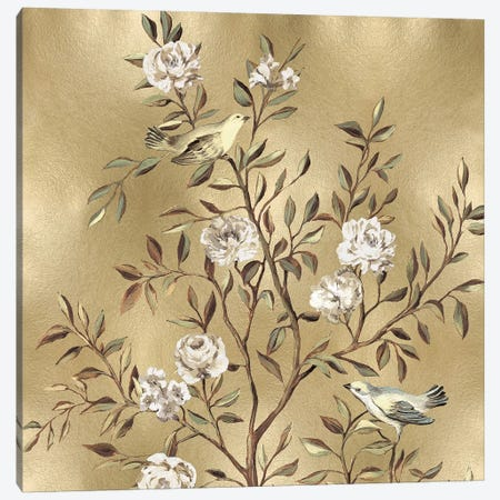 Chinoiserie In Gold I Canvas Print #REN10} by Reneé Campbell Canvas Wall Art