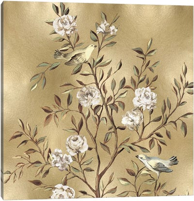Chinoiserie In Gold I Canvas Print #REN10