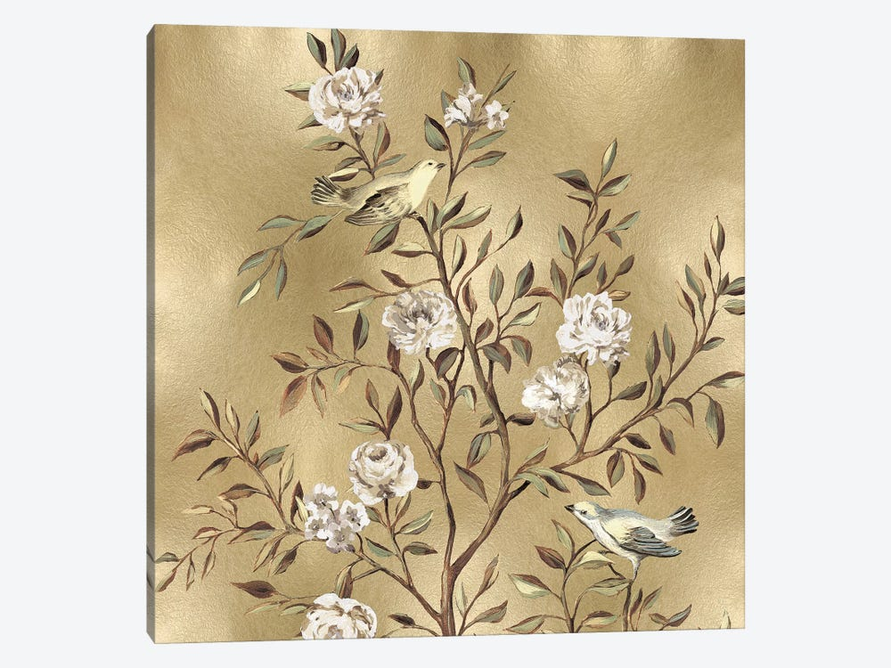 Chinoiserie In Gold I by Reneé Campbell 1-piece Art Print