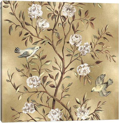 Chinoiserie In Gold II Canvas Print #REN11