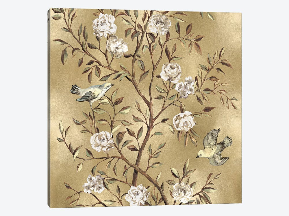 Chinoiserie In Gold II by Reneé Campbell 1-piece Canvas Artwork