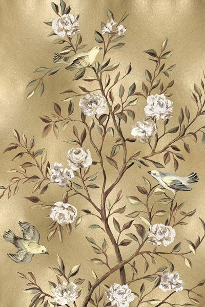 Chinoiserie In Gold III Canvas Art by Reneé Campbell | iCanvas