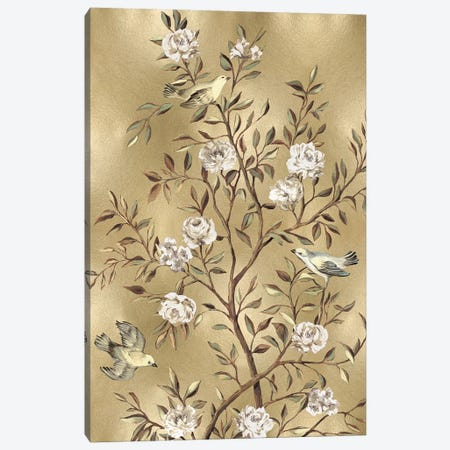 Chinoiserie In Gold III Canvas Print #REN12} by Reneé Campbell Canvas Artwork
