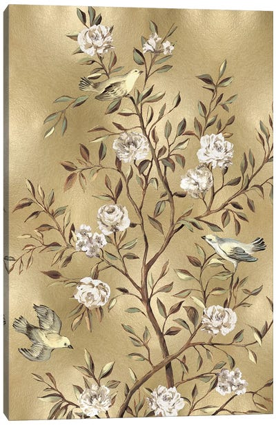 Chinoiserie In Gold III Canvas Art Print