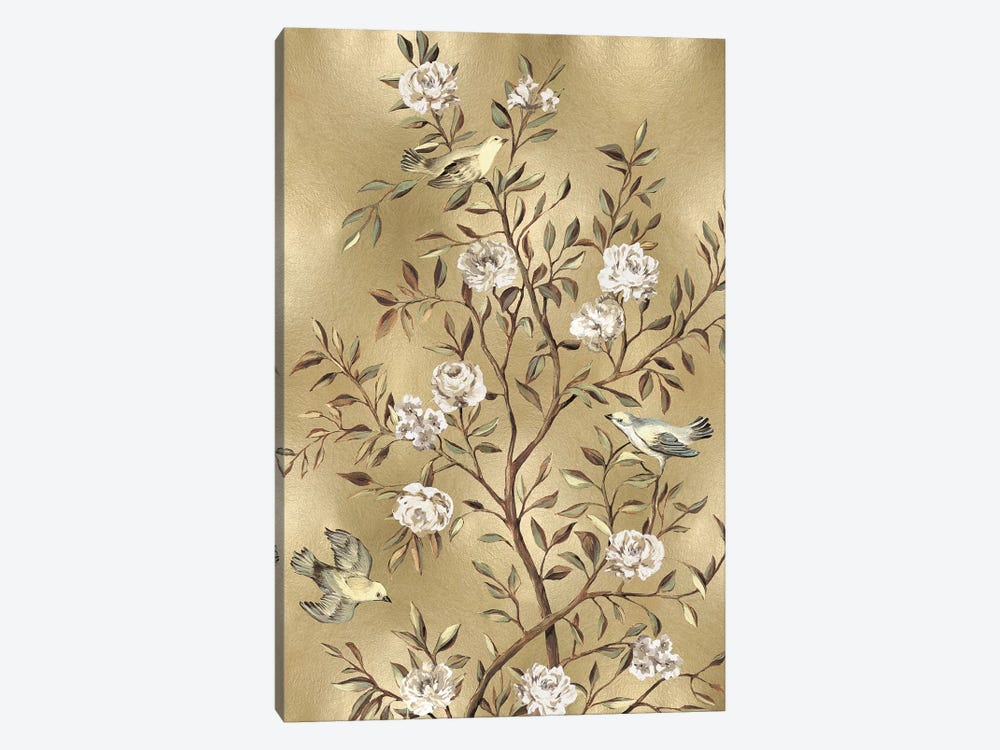 Chinoiserie In Gold III by Reneé Campbell 1-piece Canvas Print