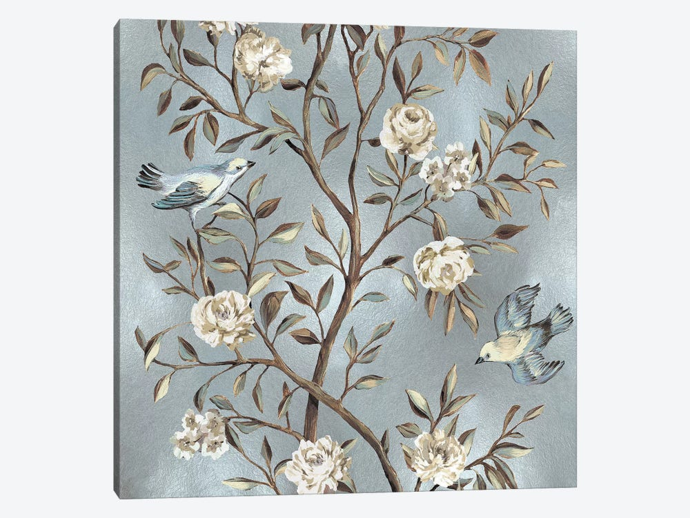 Chinoiserie In Silver II by Reneé Campbell 1-piece Art Print