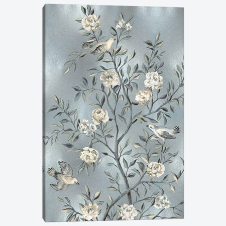 Chinoiserie In Silver III Canvas Print #REN15} by Reneé Campbell Canvas Print