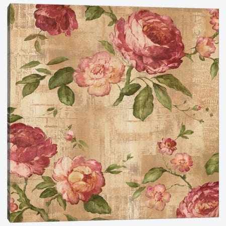 Rose Garden I 3-Piece Canvas #REN32} by Reneé Campbell Canvas Artwork