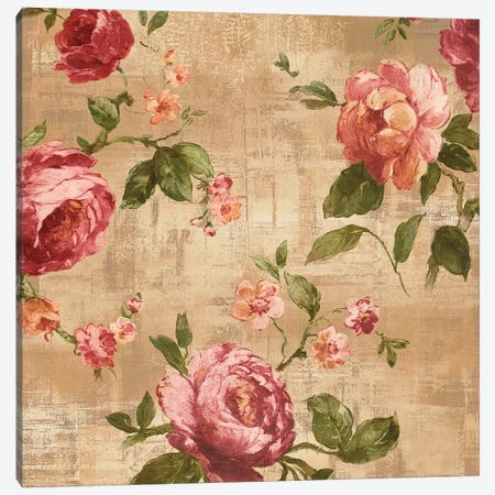 Rose Garden II Canvas Print #REN33} by Reneé Campbell Canvas Wall Art