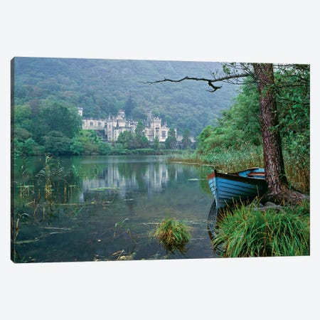 Europe, Ireland, Kylemore. A Light Rain Enhances The Impression Of Kylemore Abbey, In Connemara, Co. Galway, Ireland. Canvas Print #RER11} by Ric Ergenbright Canvas Artwork