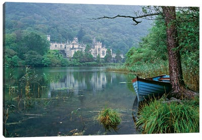 Europe, Ireland, Kylemore. A Light Rain Enhances The Impression Of Kylemore Abbey, In Connemara, Co. Galway, Ireland. Canvas Art Print