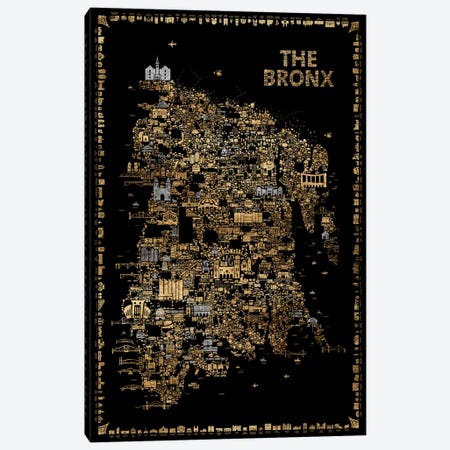 Glam New York Collection-Bronx Canvas Print #RES14} by Rafael Esquer Canvas Artwork