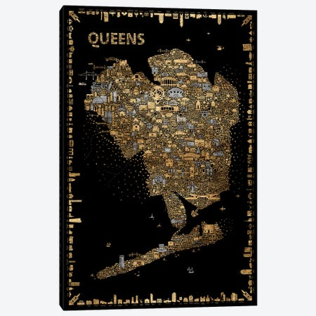 Glam New York Collection-Queens Canvas Print #RES18} by Rafael Esquer Canvas Art Print