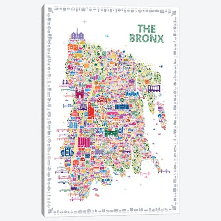 New York Collection-Bronx Canvas Print #RES23} by Rafael Esquer Canvas Artwork