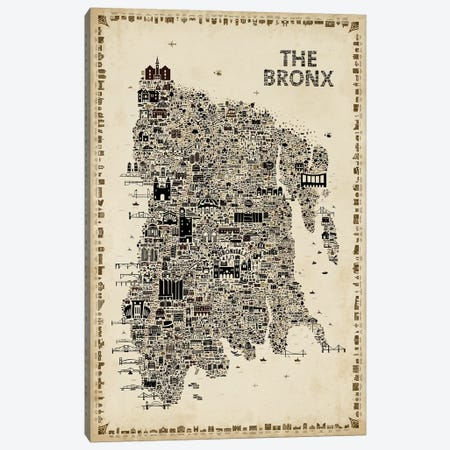 Antique New York Collection-Bronx Canvas Print #RES5} by Rafael Esquer Canvas Art Print